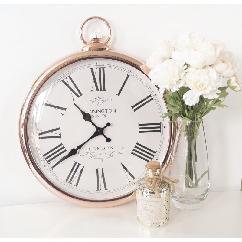 Large Copper Pocket Style Wall Clock
