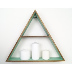 Boho wooden triangle medium shelf