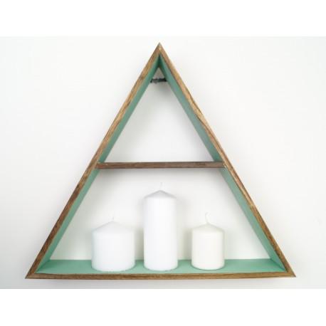 Boho wooden triangle medium shelf