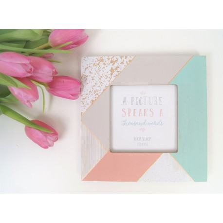 Geographic blush photo frame 4x4
