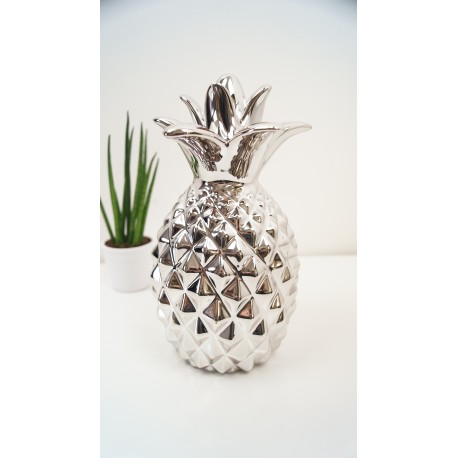 Decorative Silver Pineapple Designer Ornamnent