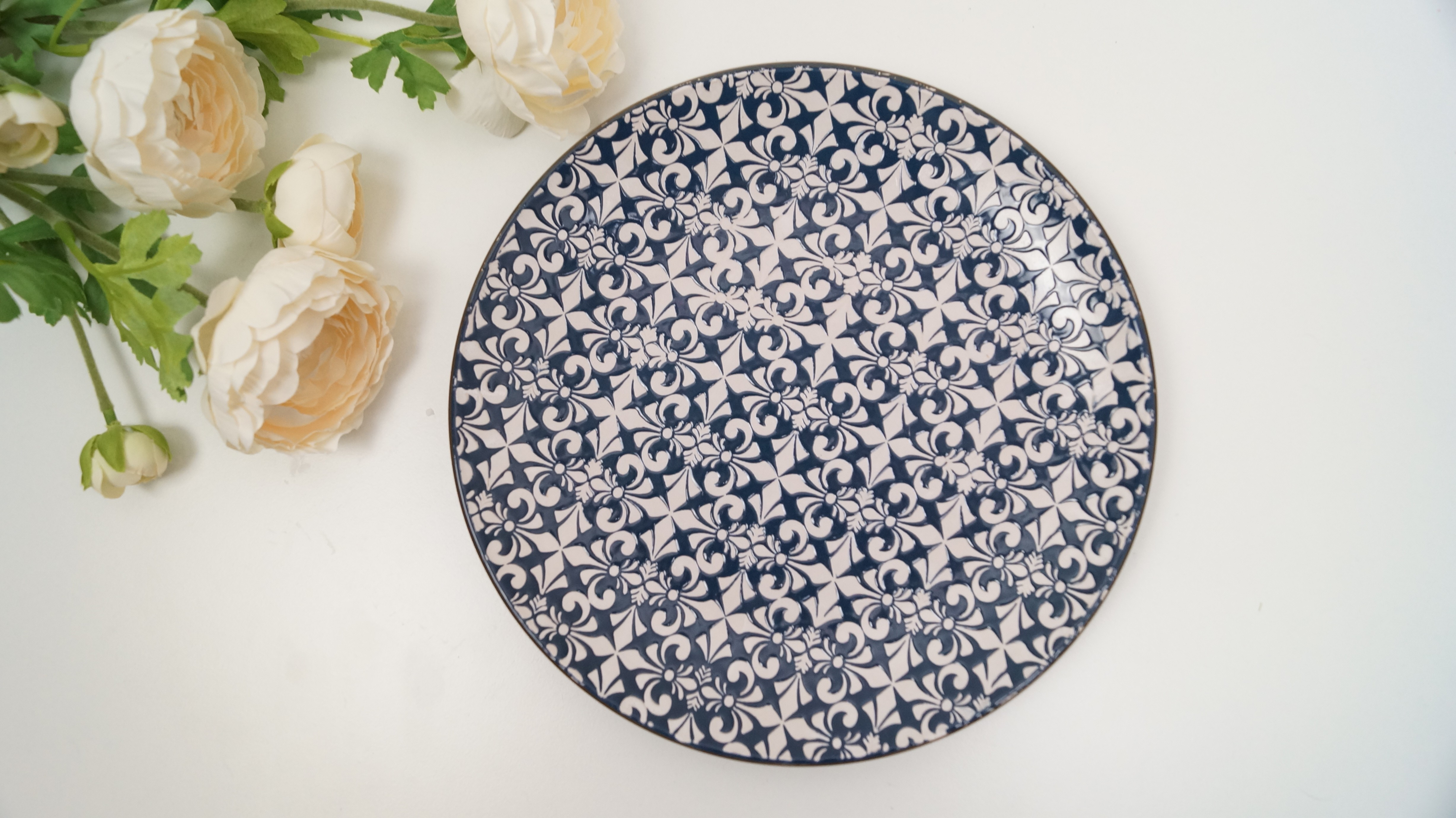 Decorative Dinner Plates Custom Stylish Mosaic Blue And White Decorative Dinner Plates Set Of 2 Review