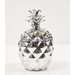 Silver Pineapple Candle Funky modern home decorative 11cm