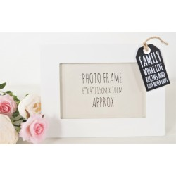 Tag Style Wooden Photo Frame 4x6