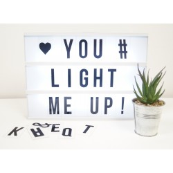 Cinematic Light Up Led Box A4 With Letters, Numbers and Symbols