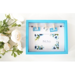 Tropical Box Photo Frame With Pegs and Slogan - Best Friends