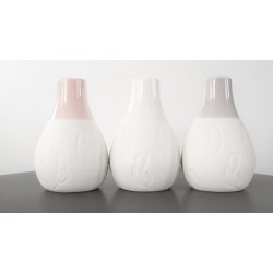 Feather Design Porcelain Vases set of 3