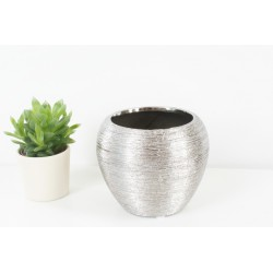 Decorative Silver Vase 13.5cm