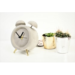 Concrete Analog Desk Clock 14.8 Cm