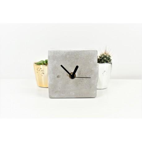 Concrete Analog Square Desk Clock 14.8 Cm