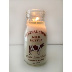 Retro School Milk Bottle Candle 12 cm Vanilla Scented Farmers